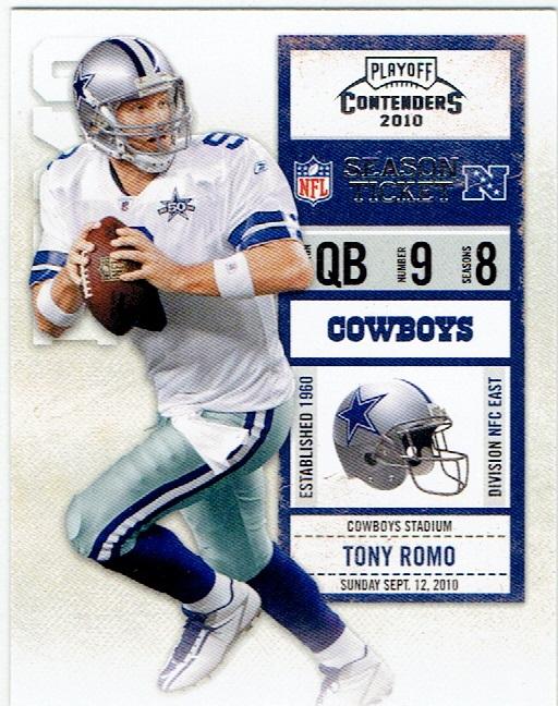 2010 Playoff Contenders #27 Tony Romo