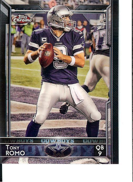 2015 Topps Chrome mini Tony Romo